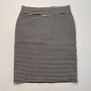 Toad & Co Chaka Skirt Black and White Striped XS